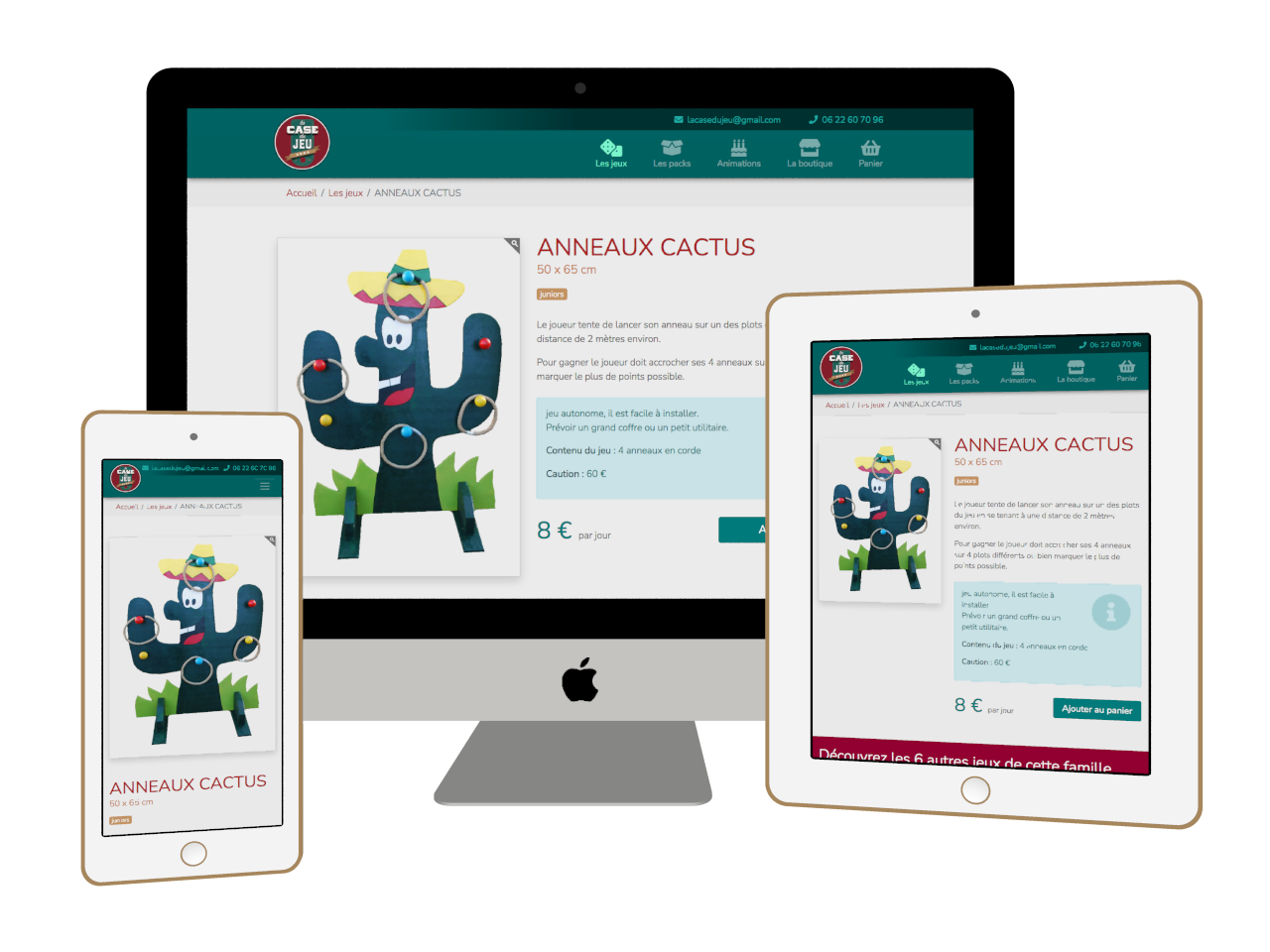 Micraux, nos clients sont nos meilleurs ambassadeurs : vue adaptative sur ordinateur, tablette et smartphone pour La Case Du Jeu