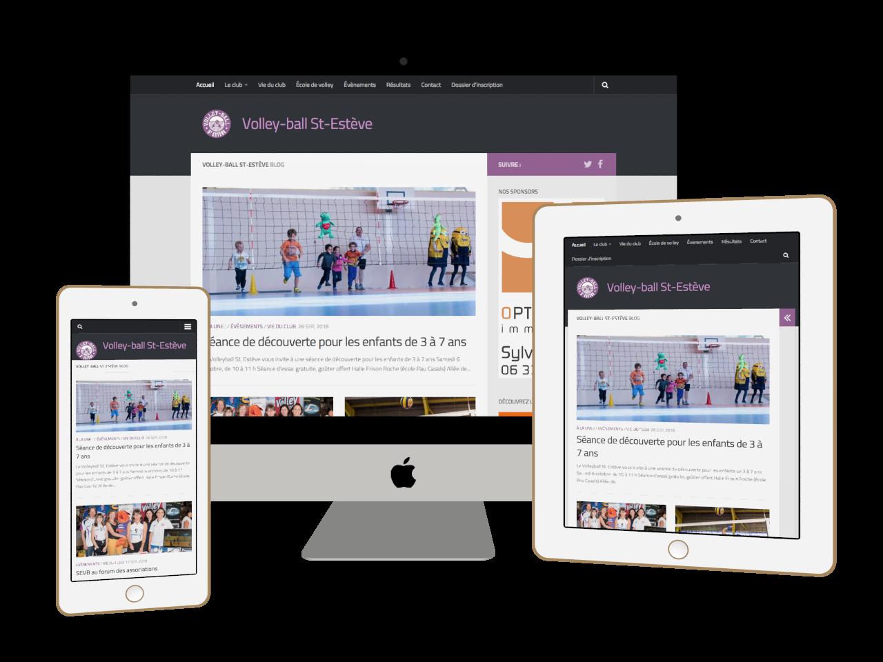Micraux, nos clients sont nos meilleurs ambassadeurs : vue adaptative sur ordinateur, tablette et smartphone pour Volley-Ball Saint-Estève